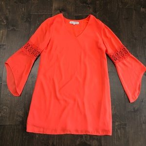 Almost Famous Coral Bell Sleeve Dress